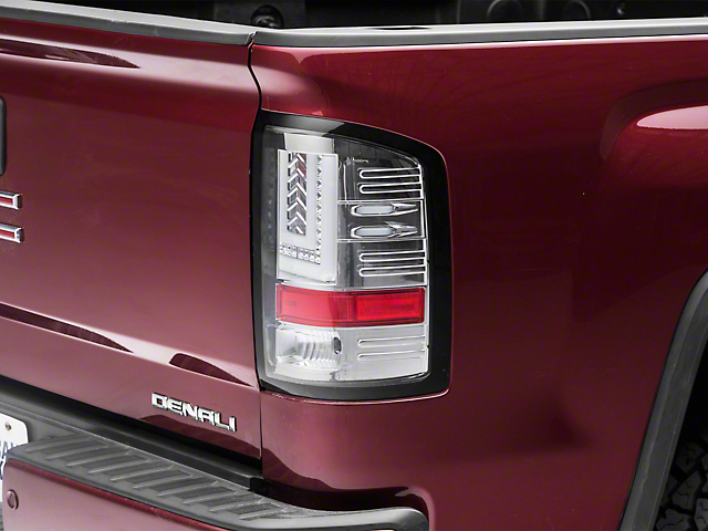 Axial Chrome LED Tail lights (14-18 Sierra 1500 w/o Factory LED Tail Lights)