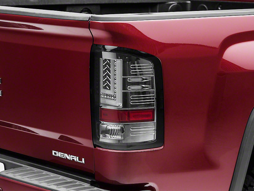 Axial Smoked Chrome LED Tail lights (14-18 Sierra 1500 w/o Factory LED Tail Lights)