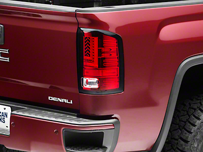 Axial Red LED Tail lights (14-18 Sierra 1500 w/o Factory LED Tail Lights)