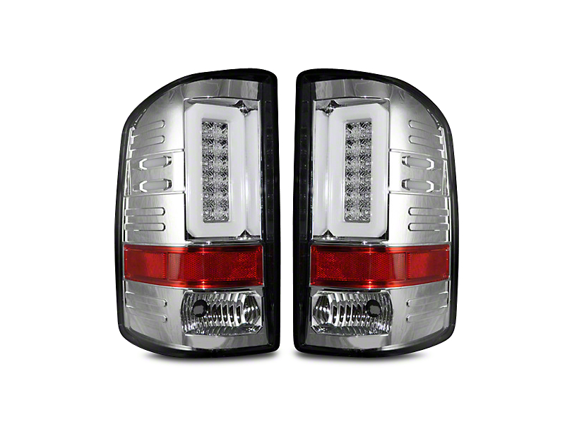 Recon LED Tail Lights - Clear Lens (14-18 Sierra 1500 w/o Factory LED Tail Lights)