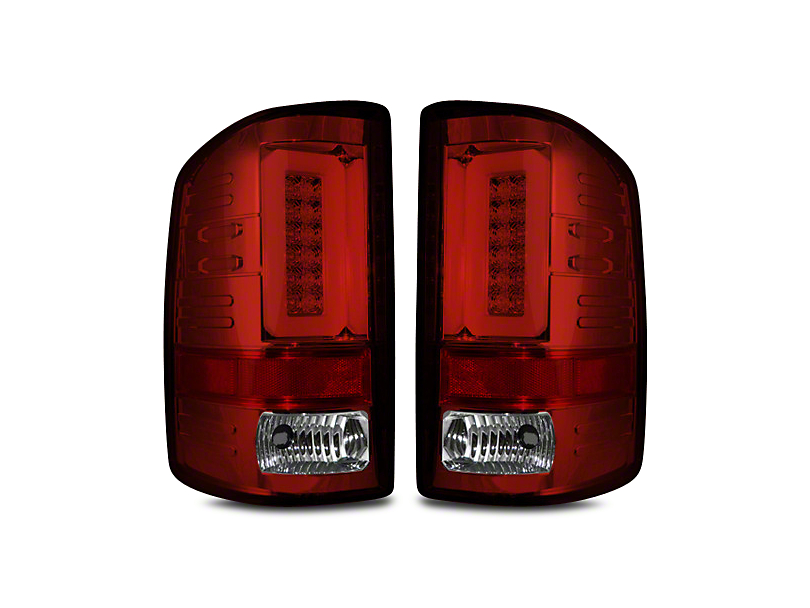 LED Tail Lights - Red Lens (14-18 Sierra 1500 w/o Factory LED Tail Lights)