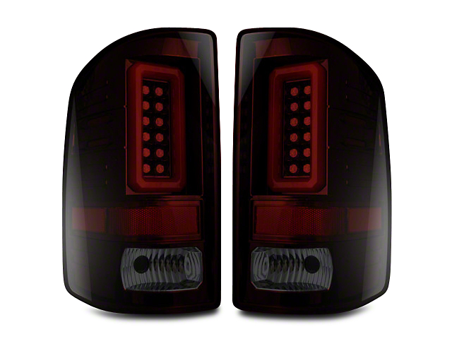 LED Tail Lights - Red Smoked Lens (14-18 Sierra 1500 w/o Factory LED Tail Lights)