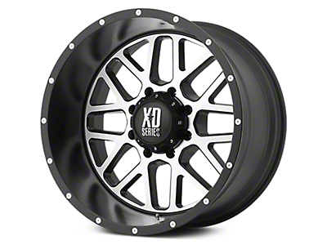 XD Grenade Satin Black Machined 6-Lug Wheel - 20x9 (07-18 Sierra 1500)