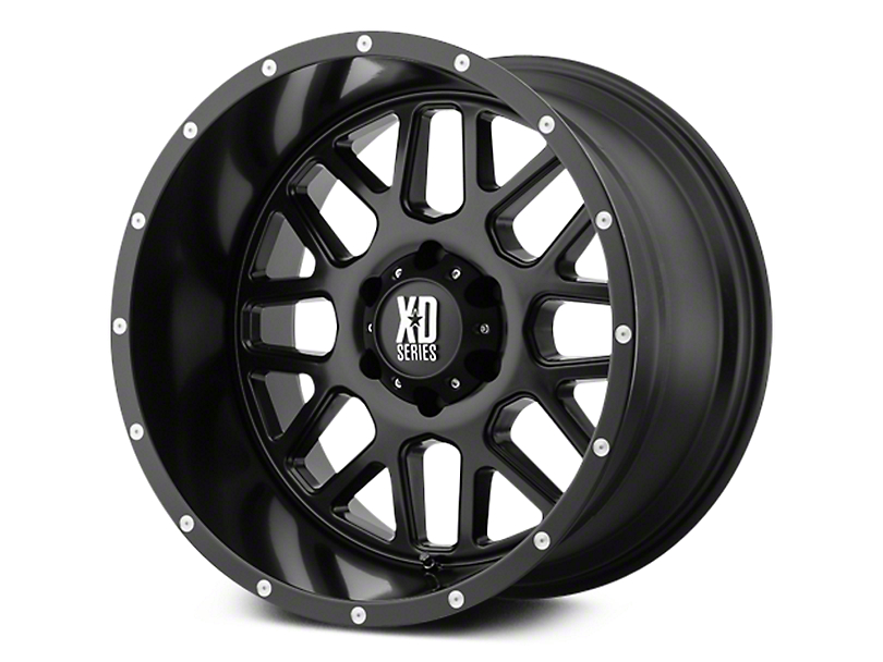 XD Grenade Satin Black 6-Lug Wheel - 20x9 (07-18 Sierra 1500)