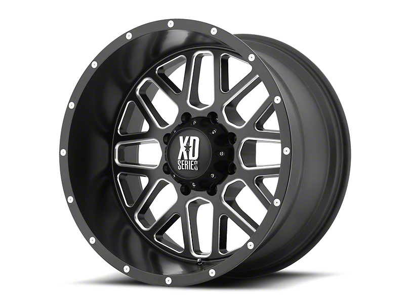 XD Grenade Satin Black Milled 6-Lug Wheel - 20x9 (07-19 Sierra 1500)