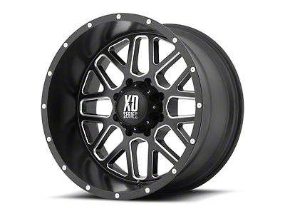 XD Grenade Satin Black Milled 6-Lug Wheel - 20x9 (07-18 Sierra 1500)