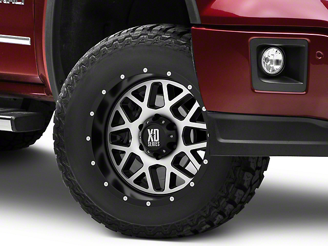XD Grenade Satin Black Machined 6-Lug Wheel - 17x8.5 (07-18 Sierra 1500)