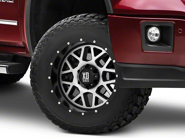 XD Grenade Satin Black Machined 6-Lug Wheel; 17x9; -12mm Offset (14-18 Sierra 1500)
