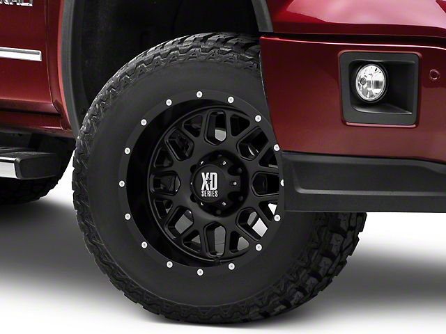 XD Grenade Satin Black 6-Lug Wheel - 17x9 (07-18 Sierra 1500)