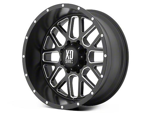 XD Grenade Satin Black Milled 6-Lug Wheel - 17x8.5 (07-18 Sierra 1500)