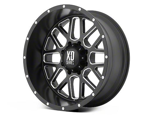 XD Grenade Satin Black Milled 6-Lug Wheel - 17x9 (07-18 Sierra 1500)