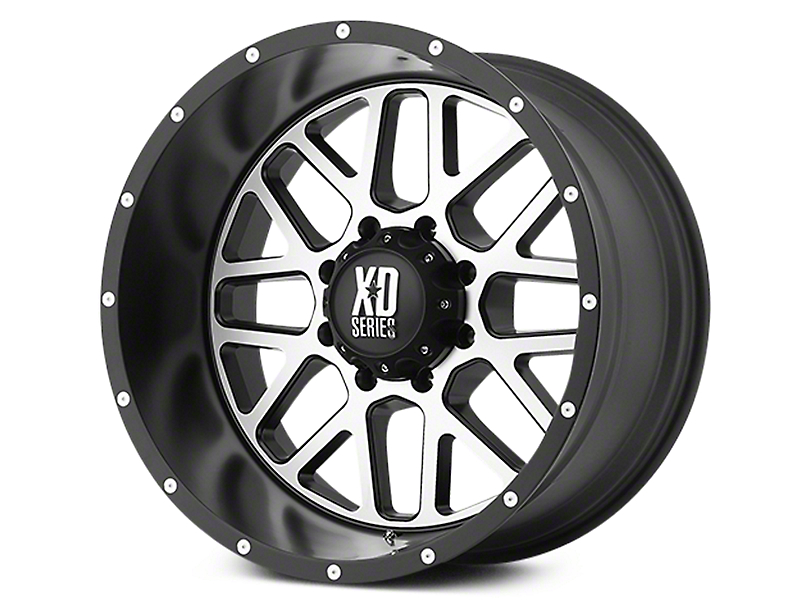XD Grenade Satin Black Machined 6-Lug Wheel - 18x9 (07-19 Sierra 1500)