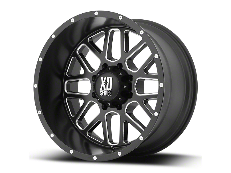 XD Grenade Satin Black Milled 6-Lug Wheel - 18x9 (07-19 Sierra 1500)