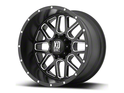 XD Grenade Satin Black Milled 6-Lug Wheel - 18x9 (07-18 Sierra 1500)