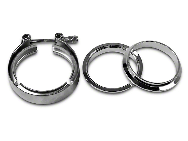GMS 3 in. Mating Male to Female Interlocking Flange w/ V-Band Exhaust Clamp - Stainless Steel (07-19 Sierra 1500)