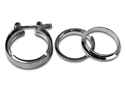 GMS 3 in. Mating Male to Female Interlocking Flange w/ V-Band Exhaust Clamp - Stainless Steel (07-18 Sierra 1500)