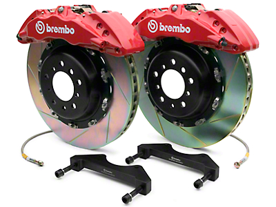 Brembo GT Series 6-Piston Front Brake Kit - 2-Piece Slotted Rotors - Red (07-18 Sierra 1500)
