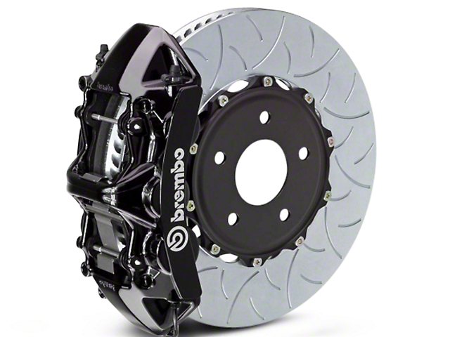 Brembo GT Series 6-Piston Front Brake Kit - Type 3 Slotted Rotors - Black (07-18 Sierra 1500)