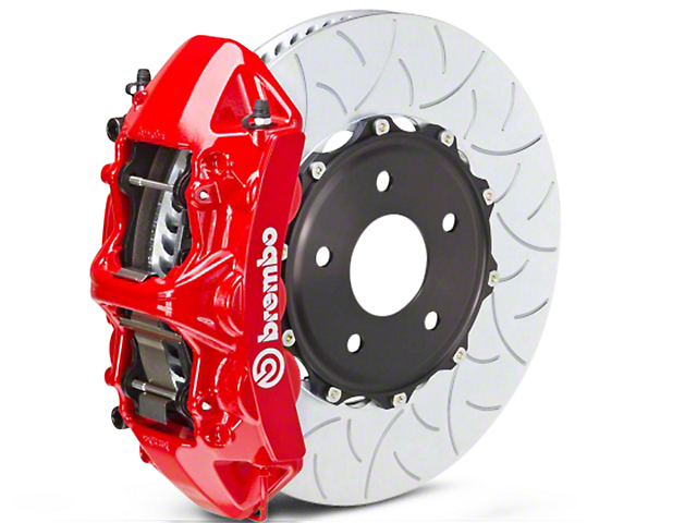 Brembo GT Series 6-Piston Front Brake Kit - Type 3 Slotted Rotors - Red (07-18 Sierra 1500)