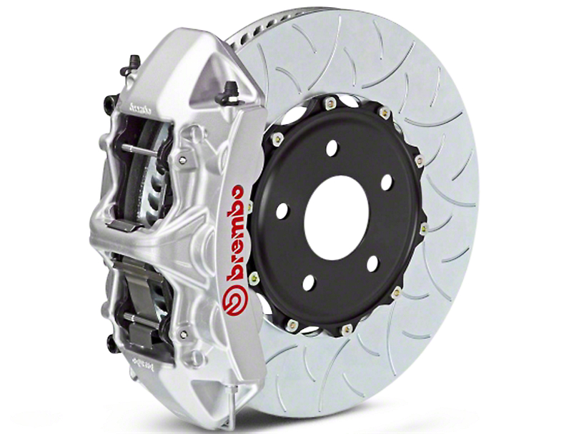 Brembo GT Series 6-Piston Front Brake Kit - Type 3 Slotted Rotors - Silver (07-18 Sierra 1500)