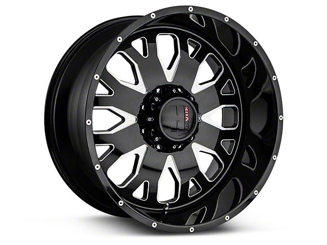 Havok Off-Road H104 Black Milled 6-Lug Wheel - 20x9 (07-19 Sierra 1500)