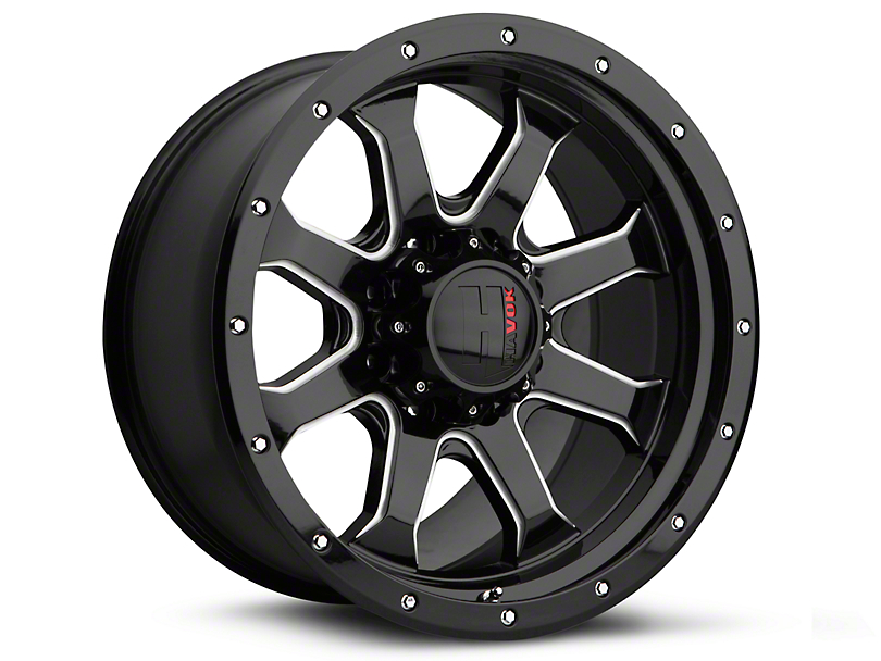 Havok Off-Road H105 Black Milled 6-Lug Wheel - 20x9 (07-19 Sierra 1500)