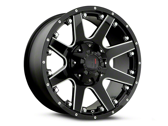 Havok Off-Road H108 Black Milled 6-Lug Wheel - 20x9 (07-18 Sierra 1500)