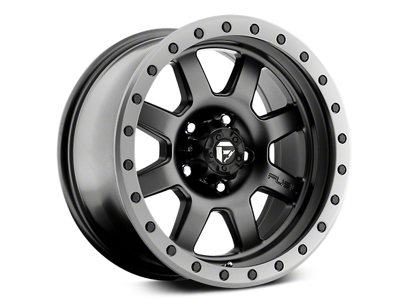 Fuel Wheels Trophy Matte Black w/ Anthracite Ring 6-Lug Wheel - 17x8.5 (07-19 Sierra 1500)