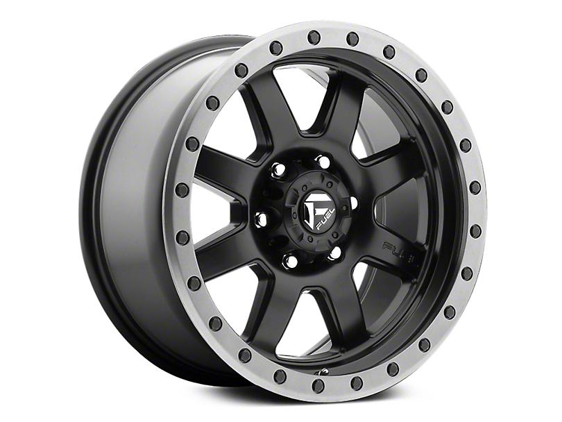 Fuel Wheels Trophy Matte Black w/ Anthracite Ring 6-Lug Wheel - 18x9 (07-18 Sierra 1500)