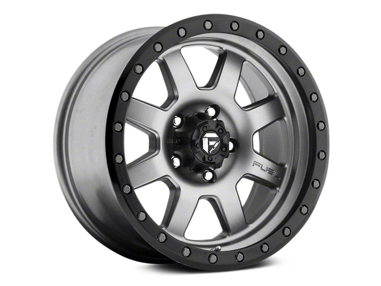 Fuel Wheels Trophy Anthracite w/ Black Ring 6-Lug Wheel - 17x8.5 (07-18 Sierra 1500)