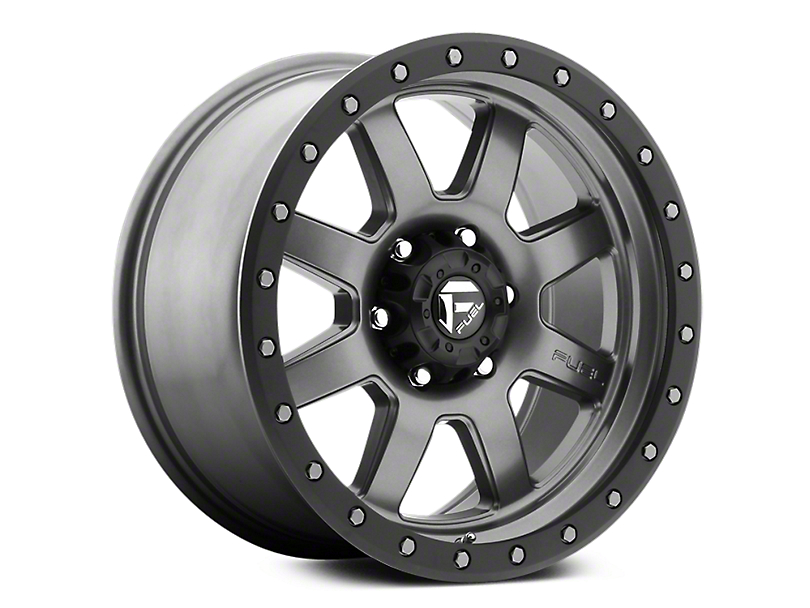 Fuel Wheels Trophy Anthracite w/ Black Ring 6-Lug Wheel - 18x9 (07-19 Sierra 1500)