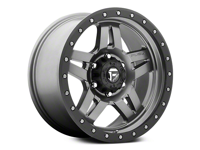 Fuel Wheels Anza Anthracite w/ Black Ring 6-Lug Wheel - 18x9 (07-19 Sierra 1500)