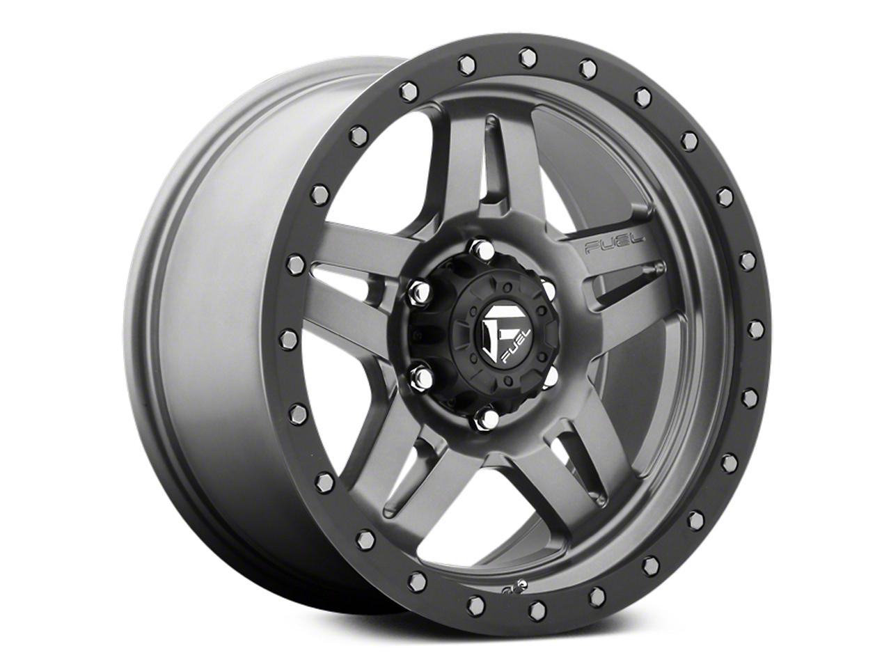Fuel Wheels Anza Anthracite w/ Black Ring 6-Lug Wheel - 18x9 (07-18 Sierra 1500)