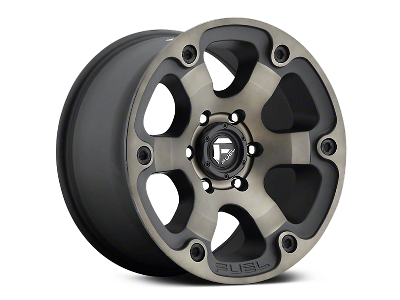 Fuel Wheels Beast Black Machined w/ Dark Tint 6-Lug Wheel - 17x9 (07-18 Sierra 1500)