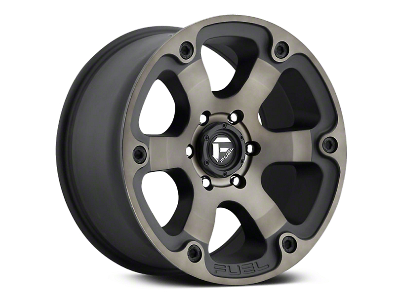 Fuel Wheels Beast Black Machined w/ Dark Tint 6-Lug Wheel - 18x9 (07-19 Sierra 1500)