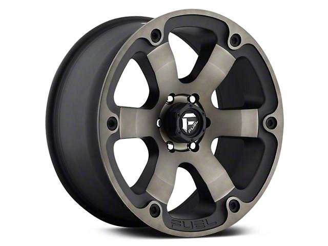 Fuel Wheels Beast Matte Black Machined with Dark Tint 6-Lug Wheel; 20x9 (07-20 Sierra 1500)