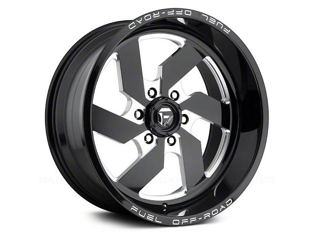 Fuel Wheels Turbo Gloss Black Milled 6-Lug Wheel; 20x10; -18mm Offset (14-18 Sierra 1500)