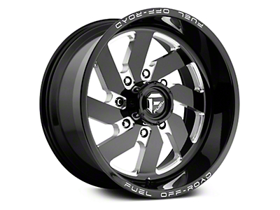 Fuel Wheels Turbo Gloss Black Milled 6-Lug Wheel - 20x9 (07-18 Sierra 1500)