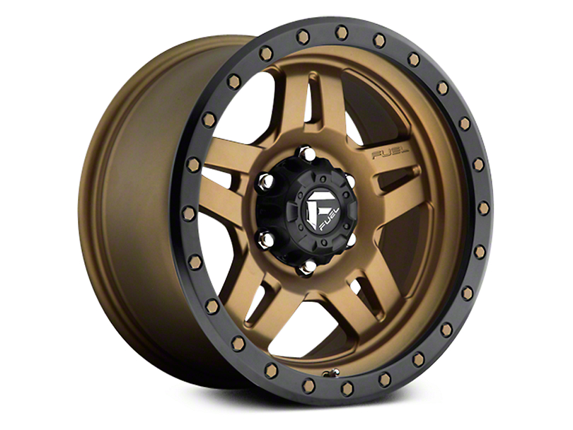Fuel Wheels Anza Matte Bronze w/ Black Ring 6-Lug Wheel - 17x8.5 (07-18 Sierra 1500)