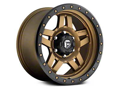 Fuel Wheels Anza Matte Bronze w/ Black Ring 6-Lug Wheel - 20x9 (07-18 Sierra 1500)