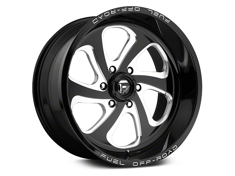 Fuel Wheels Flow Gloss Black Milled 6-Lug Wheel - 20x9 (07-18 Sierra 1500)