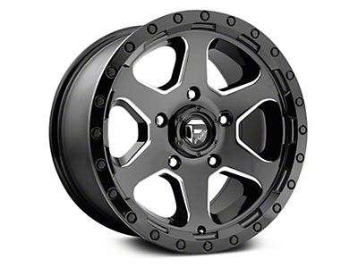 Fuel Wheels Ripper Gloss Black Milled 6-Lug Wheel - 17x9 (07-18 Sierra 1500)