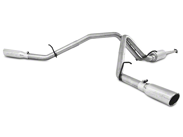 MBRP 2.5 in. Installer Series Dual Exhaust System - Side Exit (07-10 6.2L Sierra 1500 Denali)