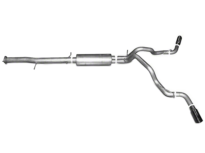 Gibson 3.5 in. / 3 in. Dual Extreme Aluminized Cat-Back Exhaust System - Split Side Exit (07-09 6.2L Denali)