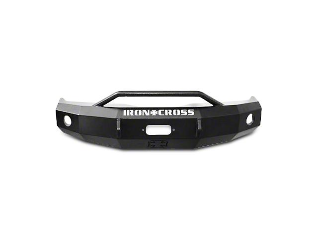 Iron Cross Heavy Duty Push Bar Front Bumper; Gloss Black (07-13 Sierra 1500)