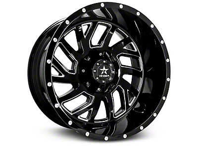 RBP 65R Glock Gloss Black Machined 6-Lug Wheel - 22x14 (07-18 Sierra 1500)