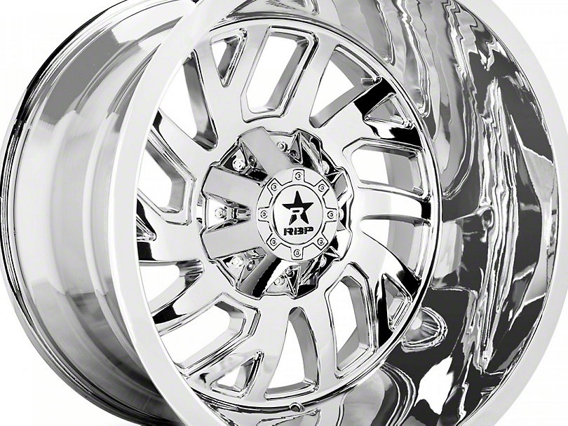 RBP 65R Glock Chrome 6-Lug Wheel - 22x14; -76mm Offset (07-20 Sierra 1500)