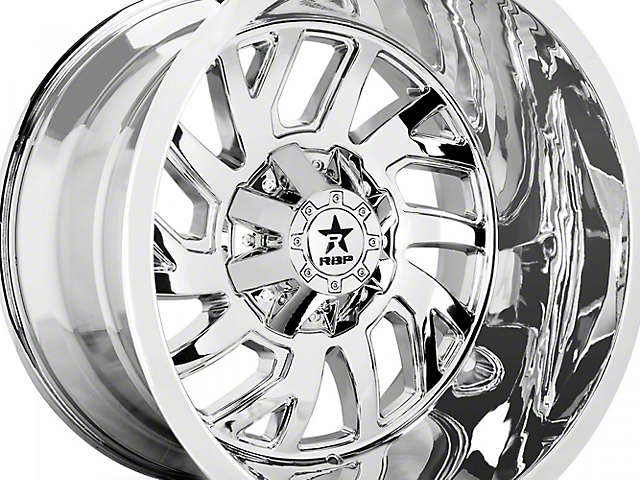 RBP 65R Glock Chrome 6-Lug Wheel - 22x14; -76mm Offset (07-19 Sierra 1500)