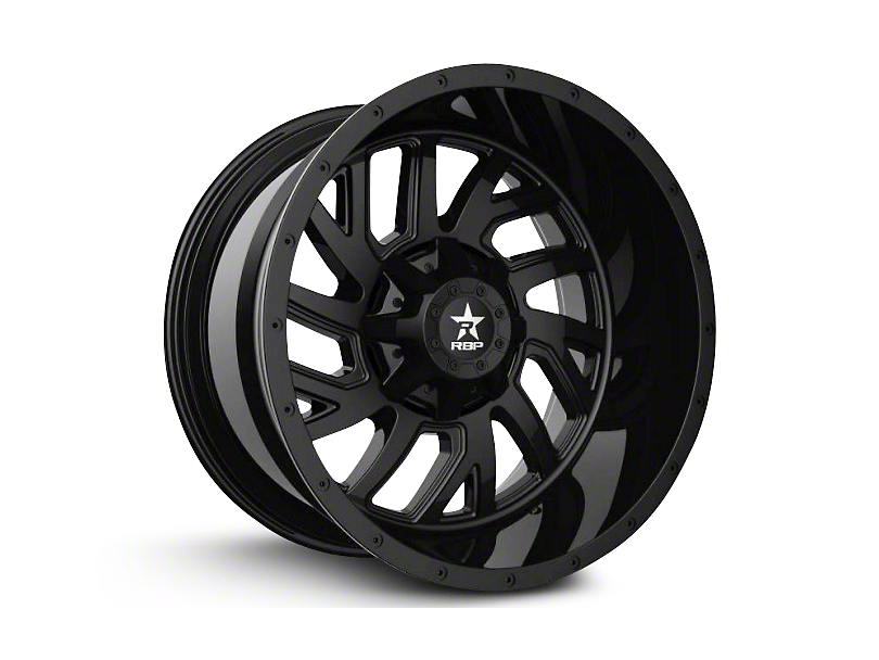 RBP 65R Glock Full Black 6-Lug Wheel; 22x14; -76mm Offset (07-20 Sierra 1500)
