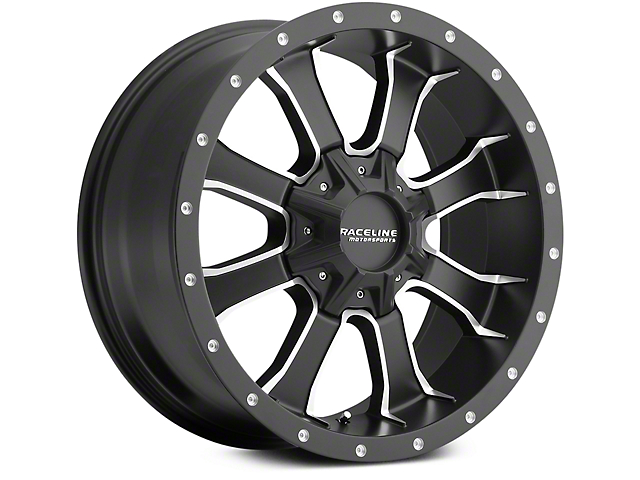 Raceline Mamba Black Milled 6-Lug Wheel - 18x9 (07-18 Sierra 1500)